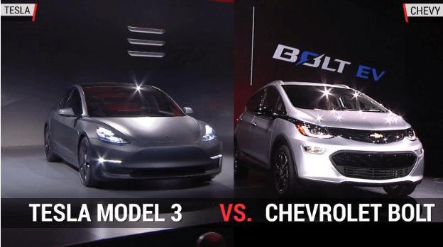 Электромобиль Chevrolet выигрывает по дальности езды у Tesla 3