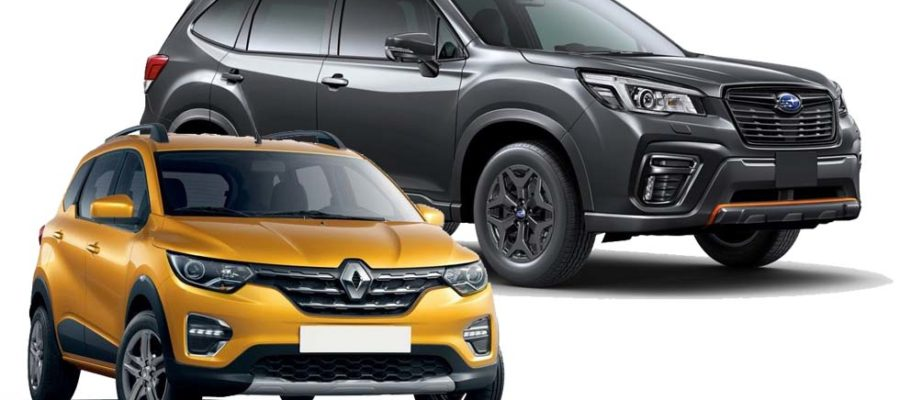 Renault Triber and Subaru Forester